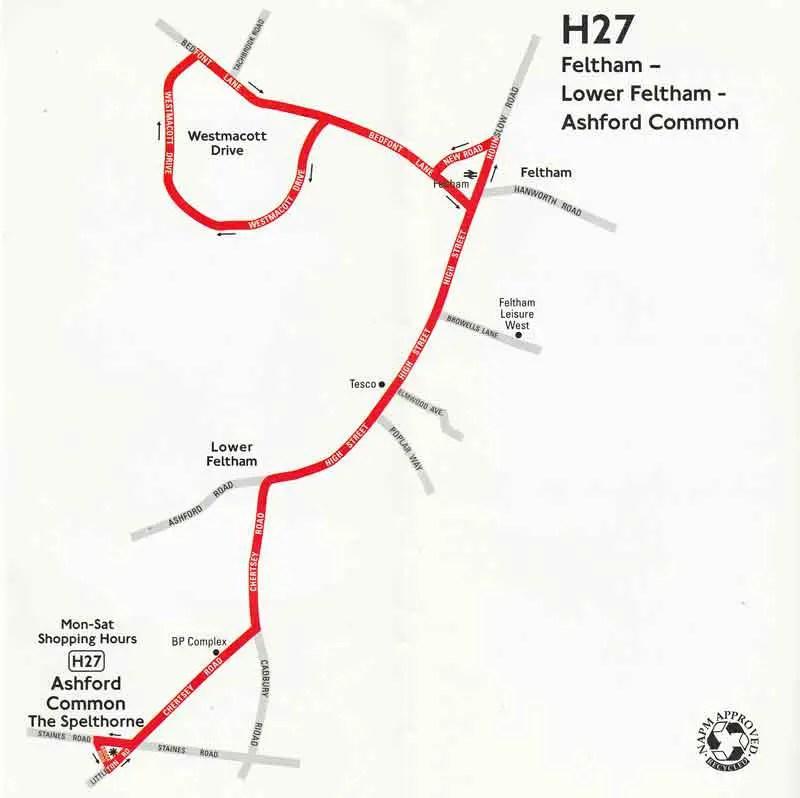 London Bus Route H27