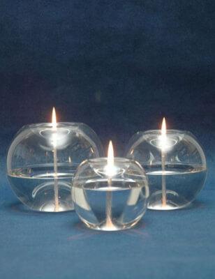 Orbital Glass Oil Lamp Candle