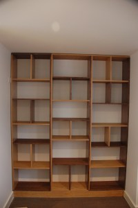 Contemporary bookcase made out of Oak and Walnut - London ...