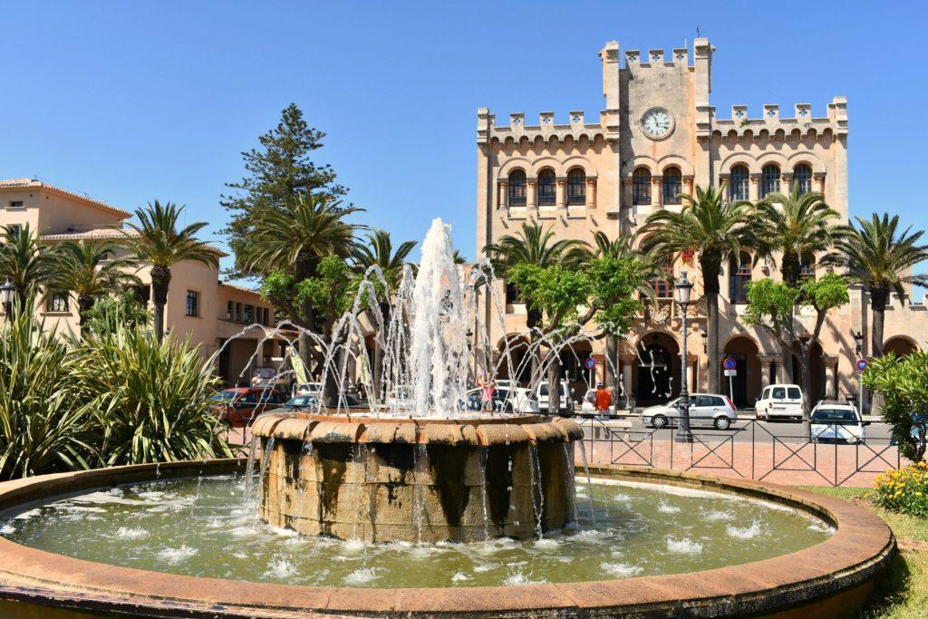 Menorca Spain, Plaza de's Born in Ciutadella