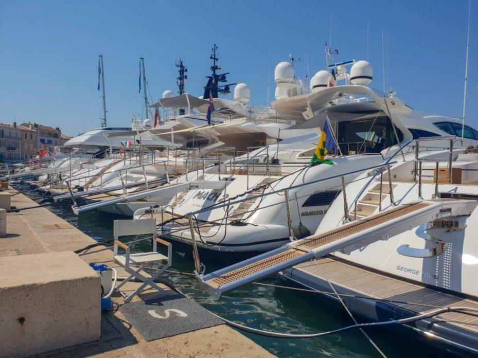 Yachts in St Tropez, French Riviera