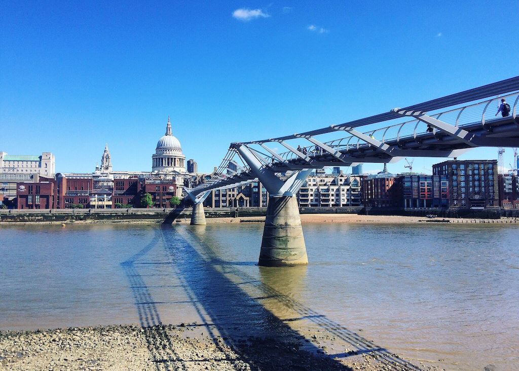 Where to Stay in London, St Pauls and Millennium Bridge