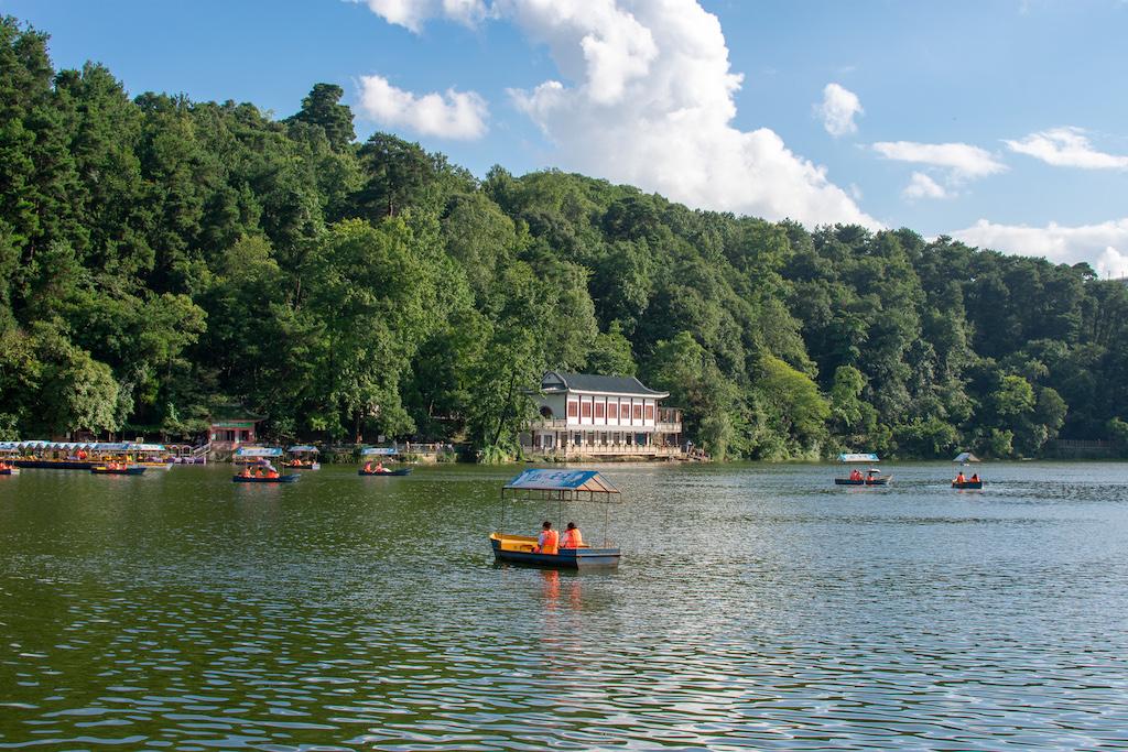 Qianling Park in Guiyang China - boating lake