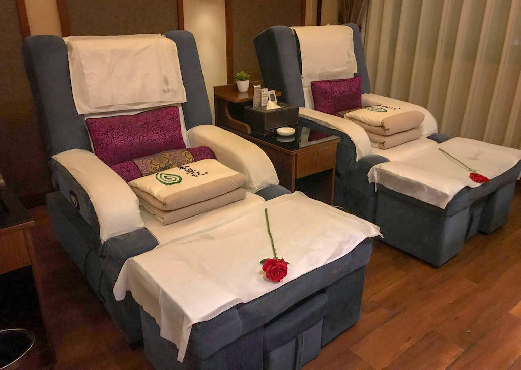 Two Chairs in Guiyang Massage Parlour