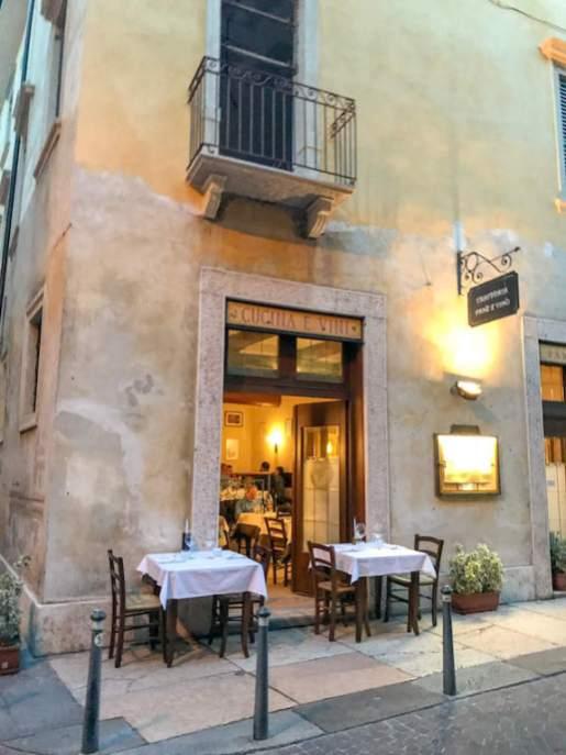 Best restaurants in Verona Italy - Trattoria Pane e Vino