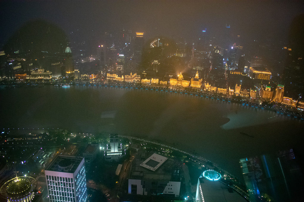 View of the Bund from the Oriental Pearl Tower