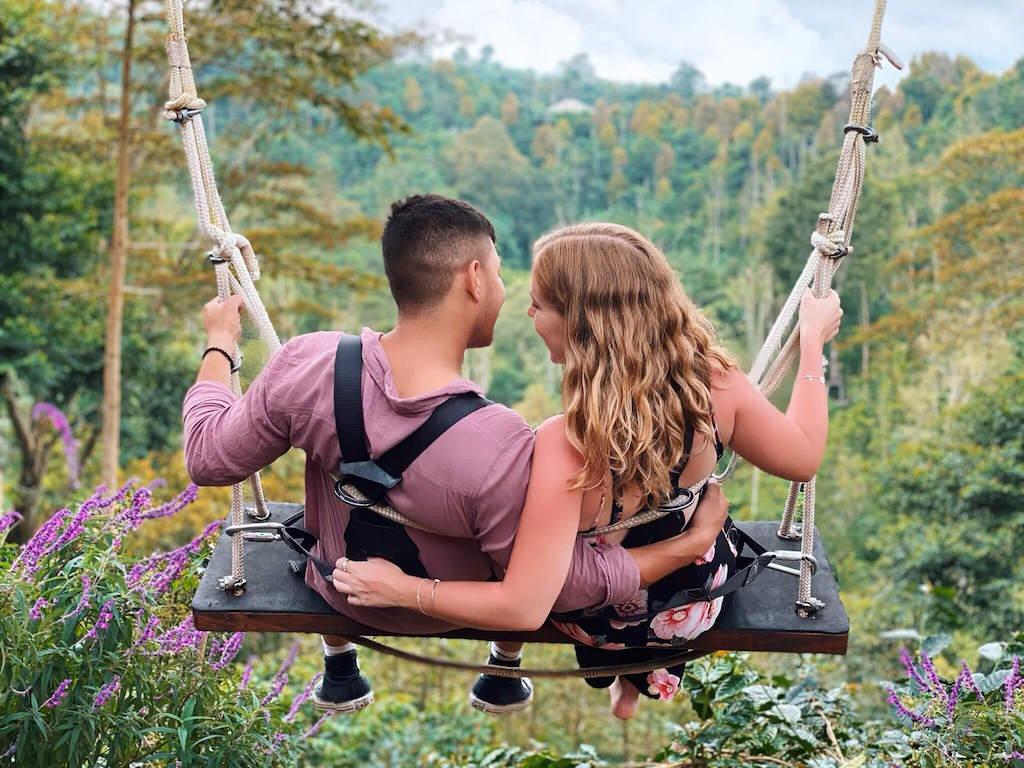 Bali swing couple Wanagiri
