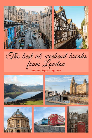 UK weekend breaks from london pin