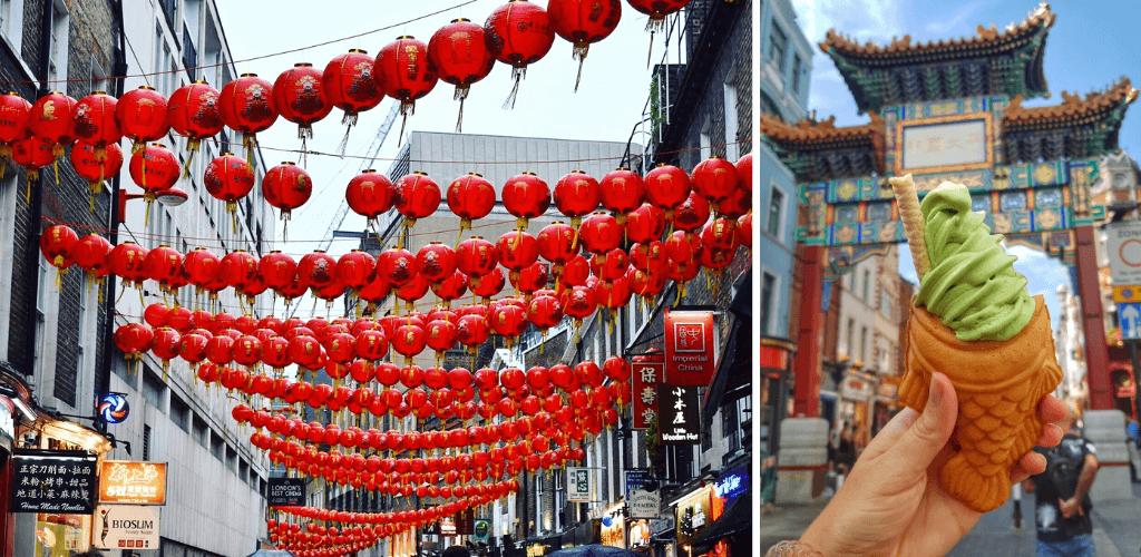 Chinatown lanterns and gate, London 4 day itinerary