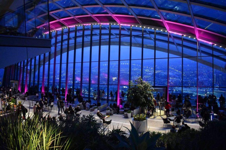Sky Garden London at night