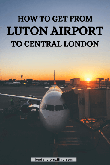 How to get from Luton Airport to London pin