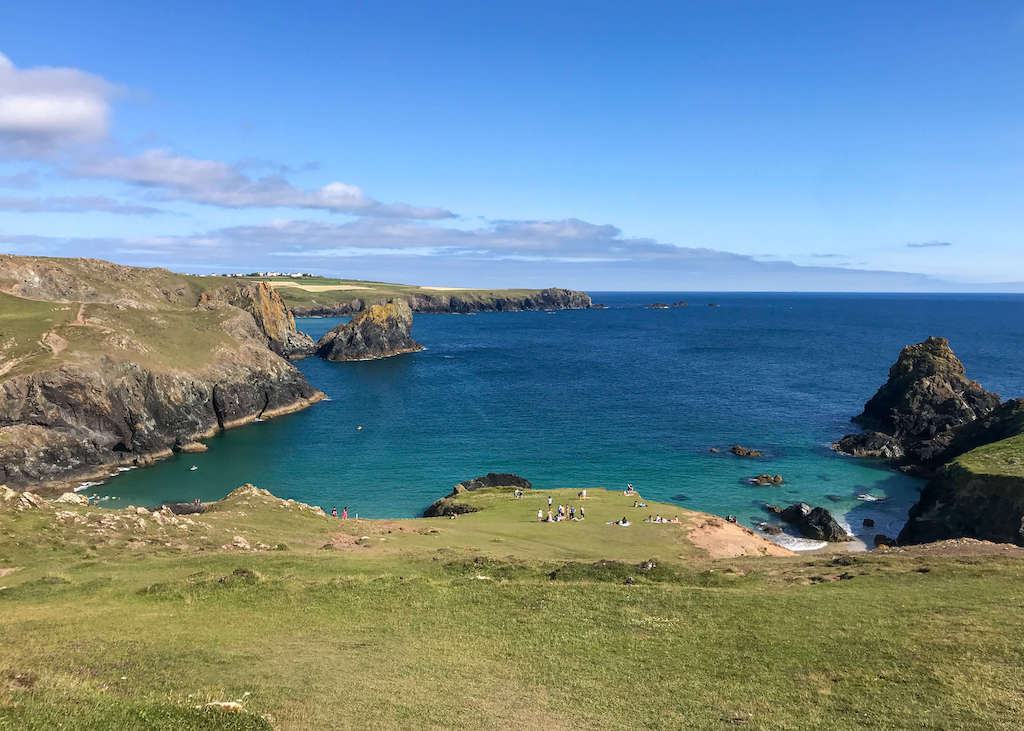 Turquoise ocean at Cornwall's Lizard Point