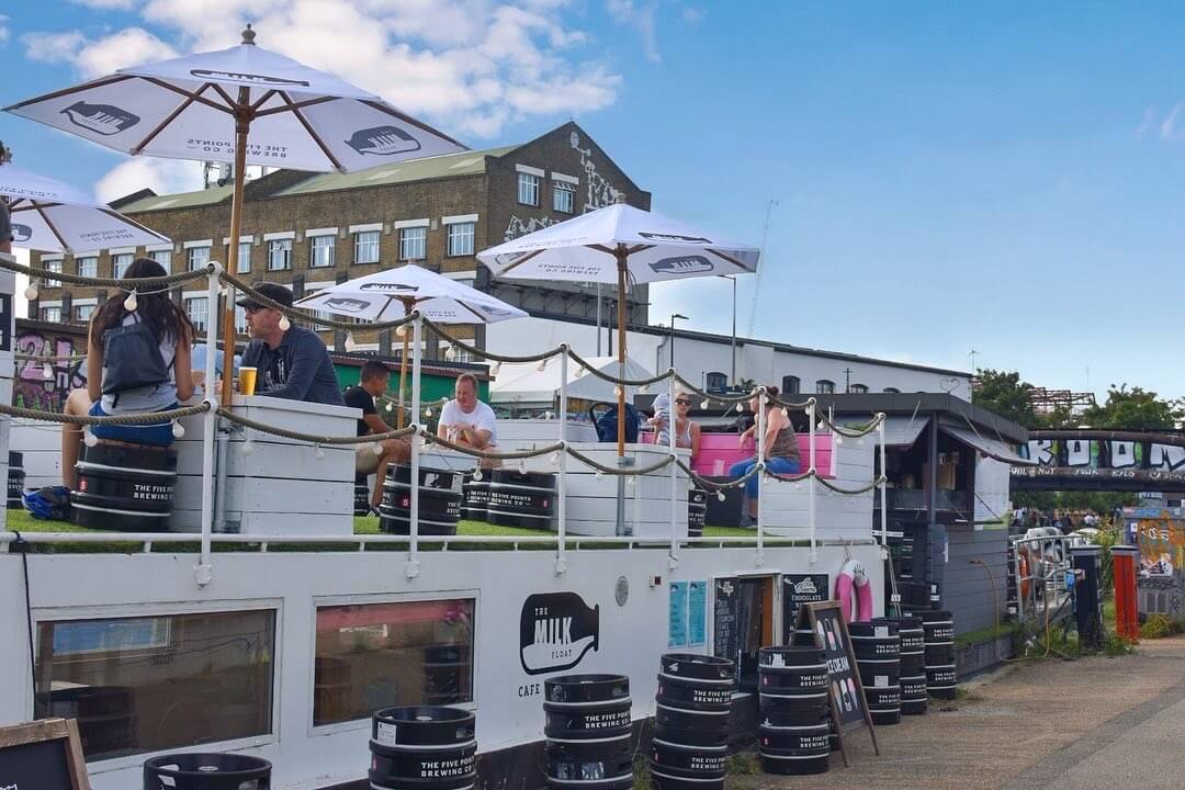 Hackney Wick floating bar London