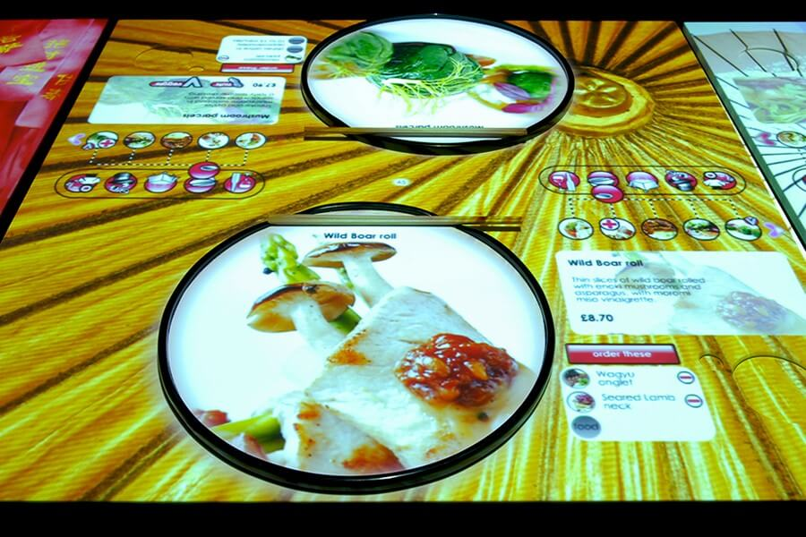 Inamo's Interactive Table in London
