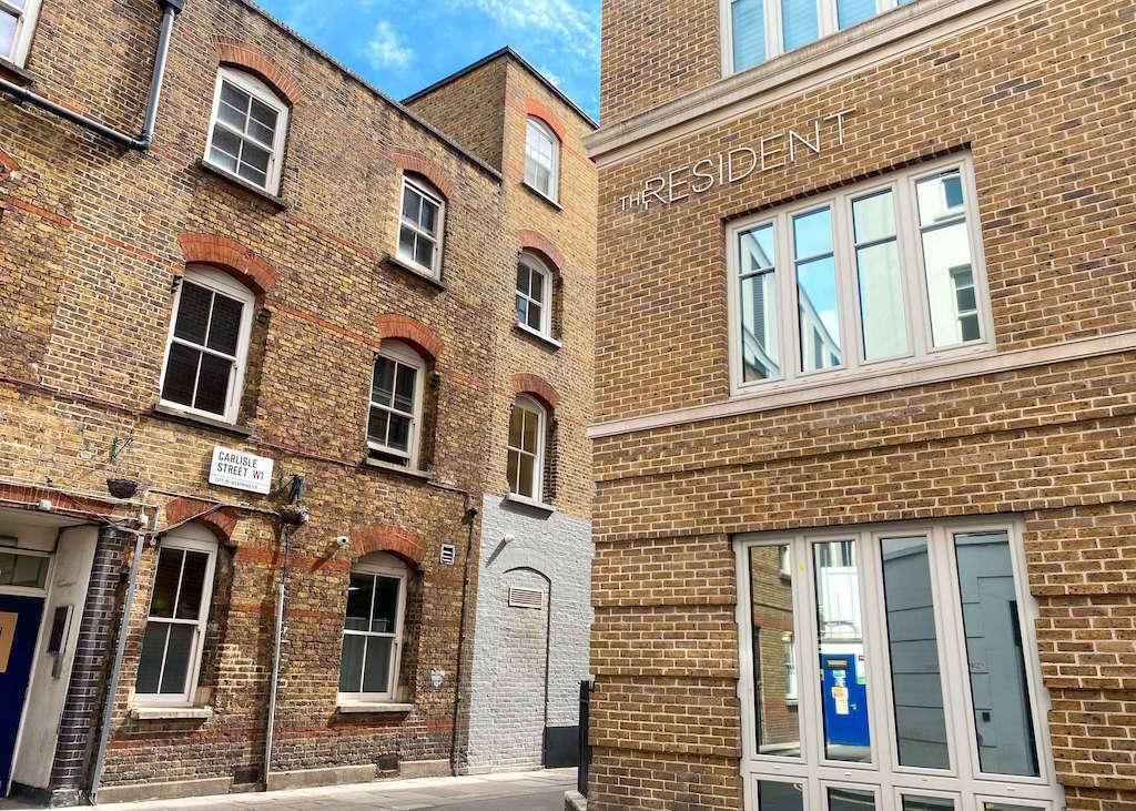 The Resident Soho exterior, best hotels in Soho London