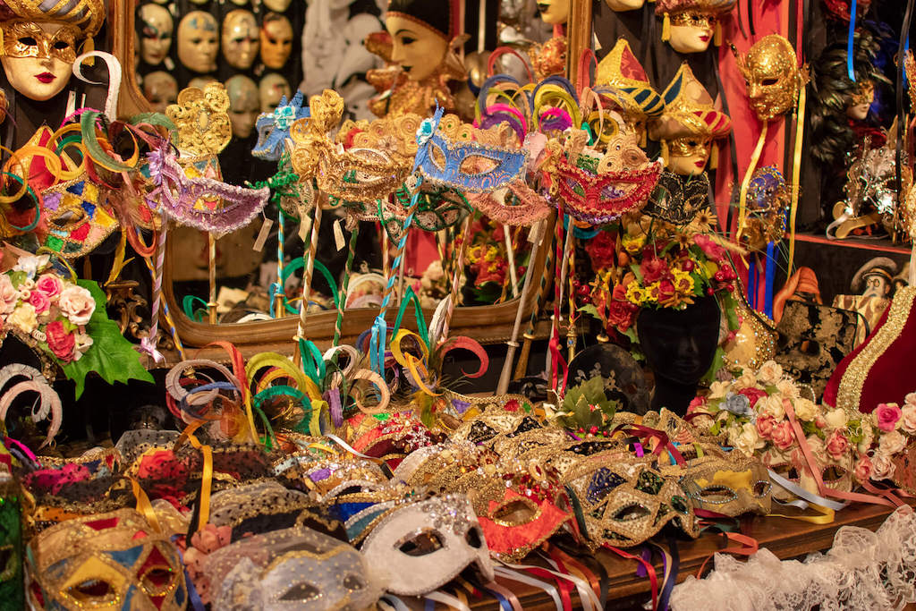 Venetian masks in Venice Italy, unique things to do in Venice