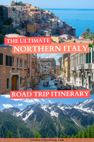 Northern Italy Road Trip Itinerary pin