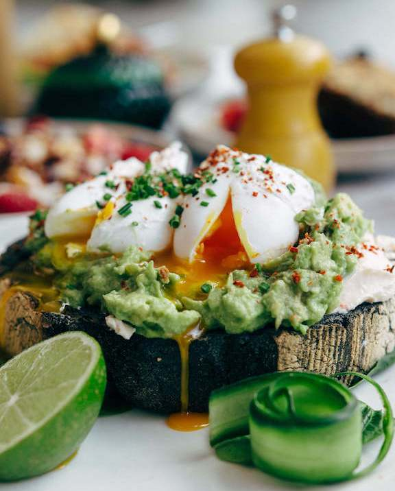 Avocado toast in London