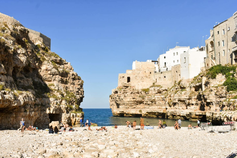 Beach Polignano a Mare Italy