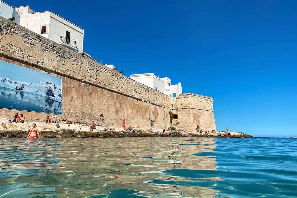 Cala Porta Vecchia beach in Monopoli