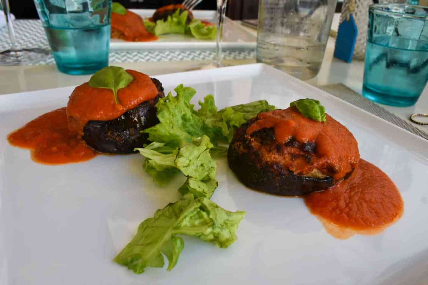 Puglia Vegtables, stuffed aubergine with tomato