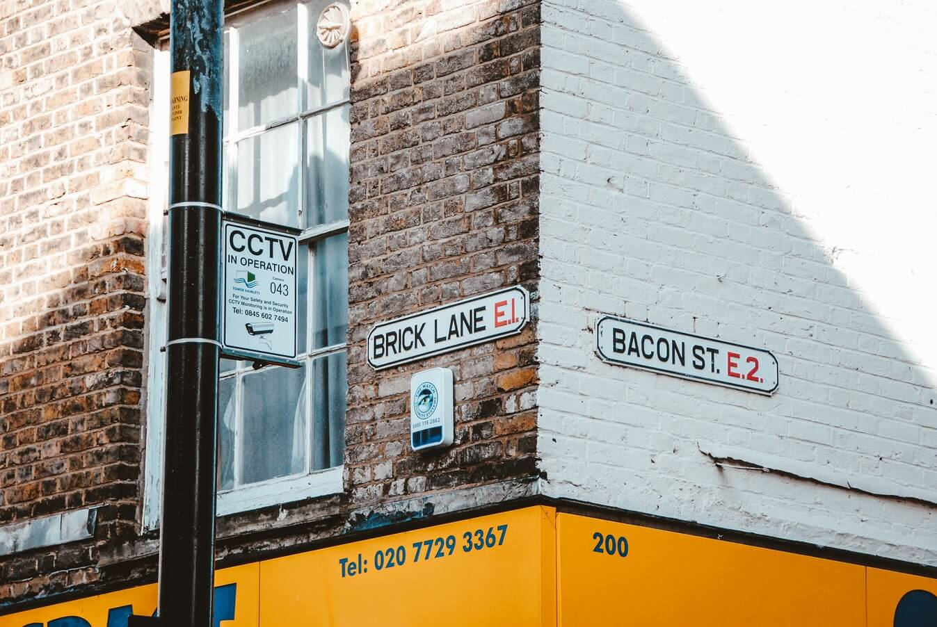 Street sign for Brick Lane in Shoreditch
