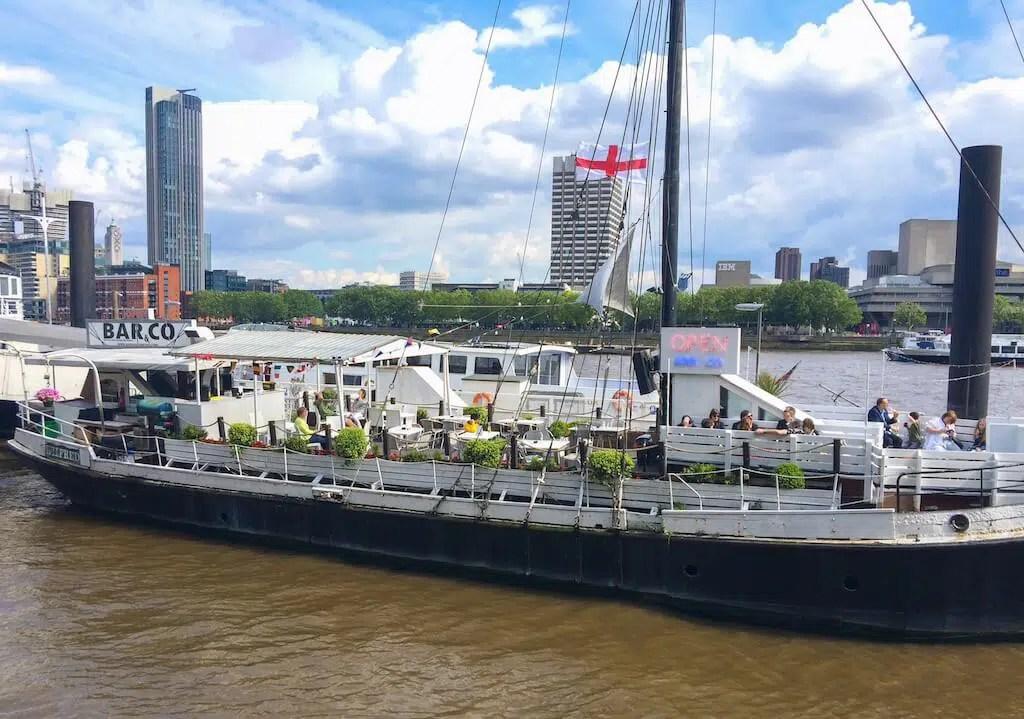 London boat restaurants