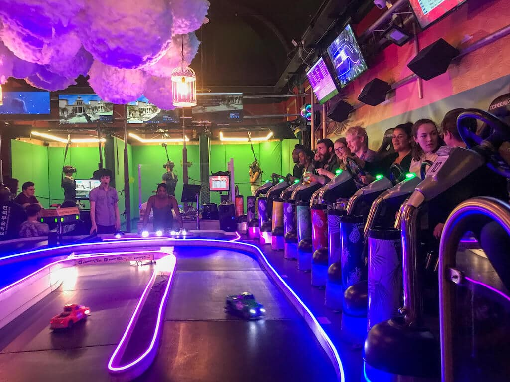 Four Thieves race track, unusual quirky bar in London
