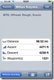 Trails iPhone bike app screenshot