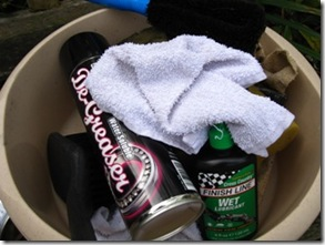 All the equipment you need to get your bike clean