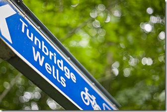 Sign pointing out a cycle routes