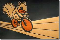Cycling squirrel poster from art crank