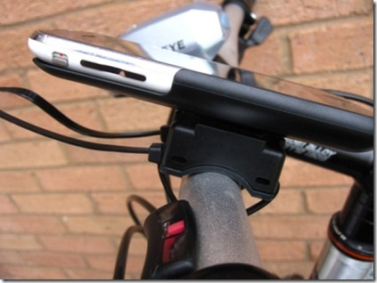 Bicio GoRide iPhone bike mount shown from the side