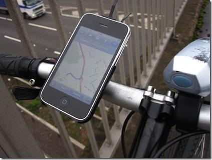Bicio GoRide iPhone bike mount using Google Maps