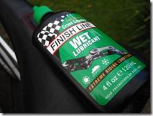 finish line wet lubricant on saddle