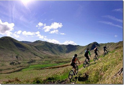 UK lake district mountain biking holiday