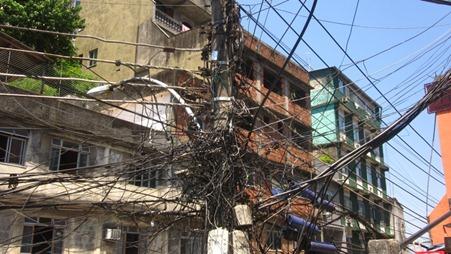 Electricity pirating in the Rio De Janeiro Favela