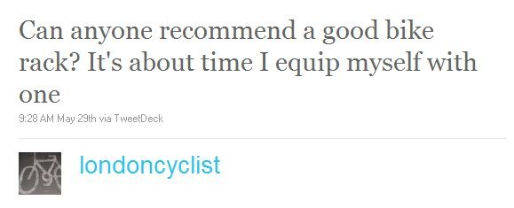 Twitter recommendations for good bike pannier racks