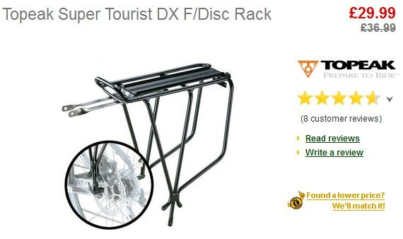 I'm going with the Topeak Super Tourist