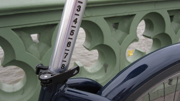 Adjusting the seat on the cycle hire bike