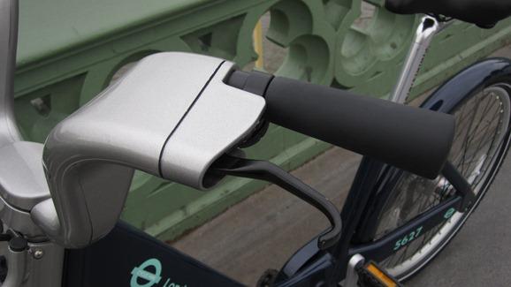 Handlebars on the TfL cycle hire bike
