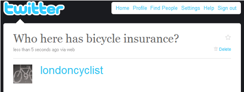 bicycle insurance question