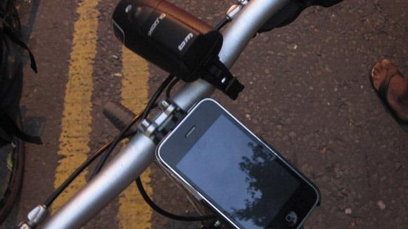 B&M Ixon IQ bike light sat on the bicycle handlebars