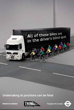 TfL HGV blind post poster campaign