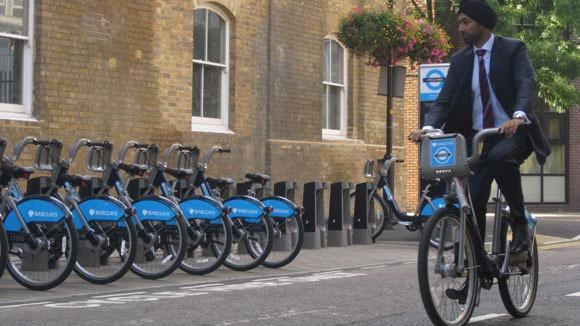 Kulveen Ranger Next to the cycle hire scheme bikes