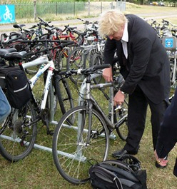 Boris Johnson at the superhighway launch