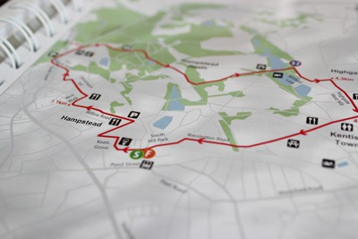The map page in Where to Ride by Nick Woodford