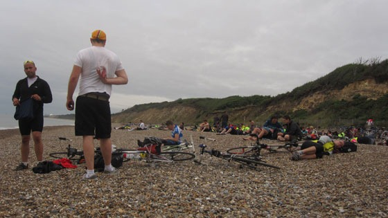 Dunwich Dynamo arriving at the beach