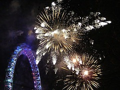 New years fireworks - the moment people set their resolutions