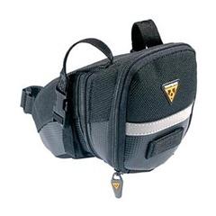 Black design Topeak Aero Buckle saddle bag